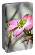 Pink Dogwood Portable Battery Charger by Kerri Farley