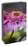 Pink Double Delight Coneflower Portable Battery Charger
