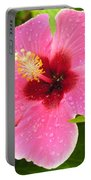 Pink Droplets Portable Battery Charger