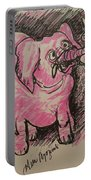 Pink Elephant Portable Battery Charger