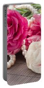 Pink Eustoma Flowers  Portable Battery Charger