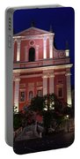 Pink Facade Of Franciscan Church Of The Annunciation Next To Urb Portable Battery Charger