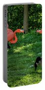 Pink Flamingos And Imposters Portable Battery Charger