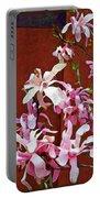 Pink Floral Arrangement Portable Battery Charger