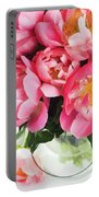 Japanese Peonies Portable Battery Charger