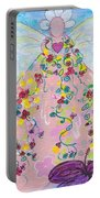 Pink Flower Angel Portable Battery Charger