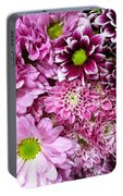 Pink Flower Carpet Portable Battery Charger