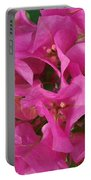 Pink Flower Composition Portable Battery Charger