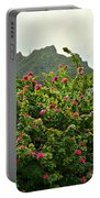 Pink Flower Explosion Portable Battery Charger