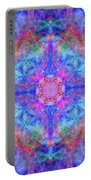Pink Flower Of Life Mandala Portable Battery Charger
