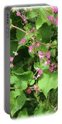 Pink Flowering Vine1 Portable Battery Charger