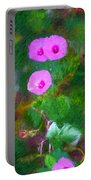 Pink Flowers 102310 Portable Battery Charger