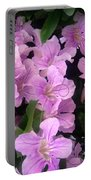 Pink Flowers. 6-22-17 Portable Battery Charger
