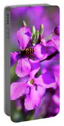 Pink Flowers With Bee . 40d4803 Portable Battery Charger
