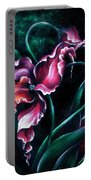 Pink Fuschia Orchid. Dance Of The Nature Portable Battery Charger