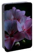 Pink Geranium Portable Battery Charger