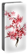 Cherry Blossom, Pink Gifts For Her, Sakura Giclee Fine Art Print, Flower Watercolor Painting Portable Battery Charger