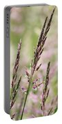 Pink Grass Portable Battery Charger