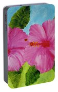 Pink Hawaiian Hibiscus Flower #23 Portable Battery Charger