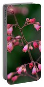 Pink Heuchera Flower 1 Portable Battery Charger
