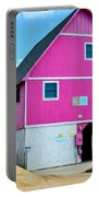 Pink House On The Beach 1 Portable Battery Charger