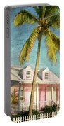 Pink House Palm Portable Battery Charger