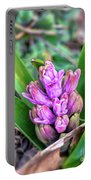 Pink Hyacinth Buds Portable Battery Charger