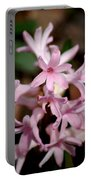 Pink Hyacinth Portable Battery Charger
