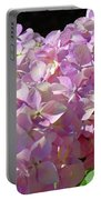 Pink Hydrangea Flower Floral Art Prints Baslee Troutman Portable Battery Charger