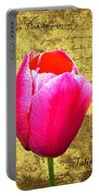 Pink Impression Tulip Portable Battery Charger