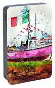 Pink Irish Boat Portable Battery Charger