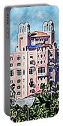 Pink Lady Don Cesar Watercolor Portable Battery Charger