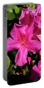 Pink Lilies Blooming Portable Battery Charger