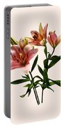 Pink Lily Trio Portable Battery Charger