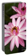 Pink Lotus Blossoms Portable Battery Charger