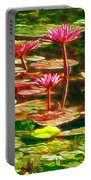 Pink Lotus Flower 2 Portable Battery Charger