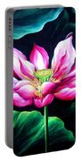 Pink Lotus From L.a. City Park Portable Battery Charger