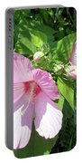 Pink Marsh Mallow Wildflower Portable Battery Charger
