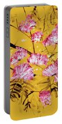 Pink Mimosa Tree Dark Yellow 201642 Portable Battery Charger