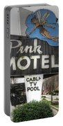 Pink Motel Sign Maggie Valley North Carolina Portable Battery Charger