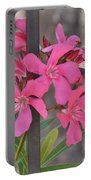 Pink Oleander II Portable Battery Charger
