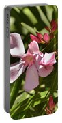 Pink Oleander Iv Portable Battery Charger