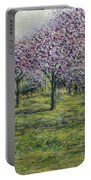 Pink Orchards Garden Portable Battery Charger