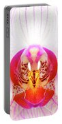 Pink Orchid Portable Battery Charger by Dave Bowman