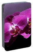 Pink Orchid Flowers Portable Battery Charger