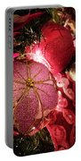 Pink Ornaments Holiday Card Portable Battery Charger