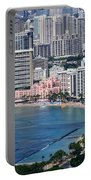 Pink Palace Waikiki Honolulu Portable Battery Charger