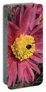 Pink Pasque Flower Portable Battery Charger