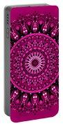 Pink Passion No. 3 Mandala Portable Battery Charger