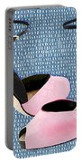 Pink Patent Leather With Sculpted Metal Heels Portable Battery Charger